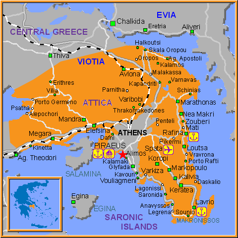 Travel Greece Map of Alimos
