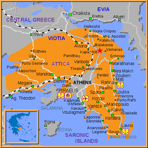 Travel Greece Map of Kapandtiti