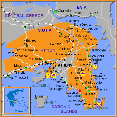 Travel Greece Map of Lagonissi
