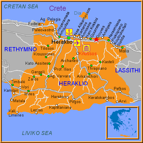 Travel Greece Map of Gouves