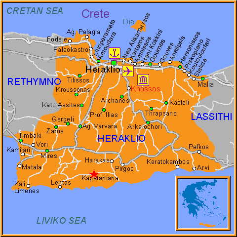 Travel Greece Map of Kapetaniana