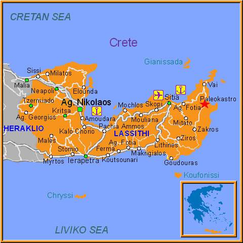 Travel Greece Map of Paleokastro