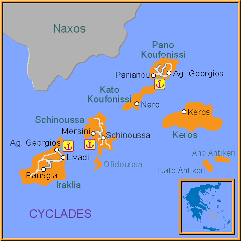 Travel Greece Map of Koufonissia
