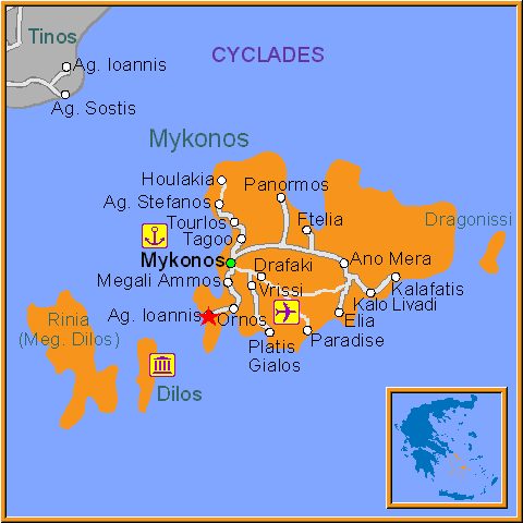 Travel Greece Map of Ag Ioannis