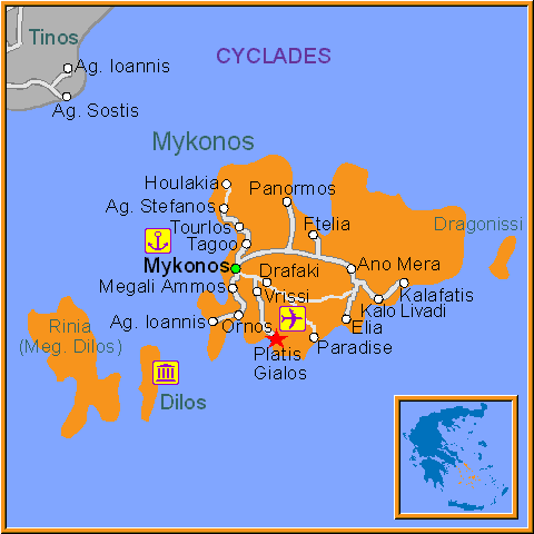 Travel Greece Map of Platys Yialos