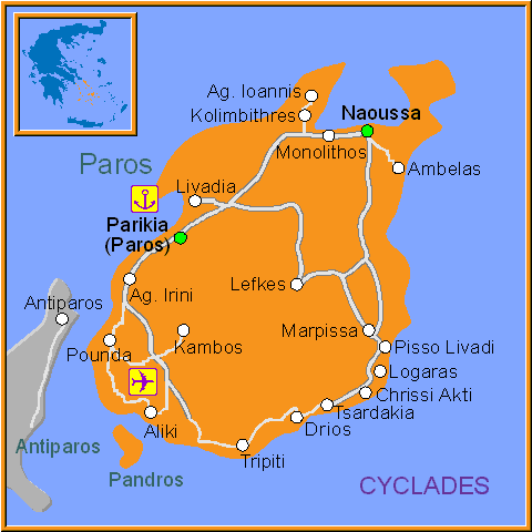 Travel Greece Map of Pandros