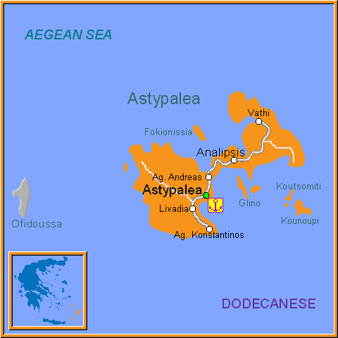 Travel Greece Map of Astypalea
