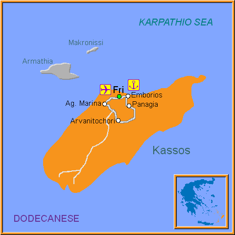 Travel Greece Map of Kassos