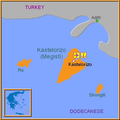Travel Greece Map of Kastelorizo