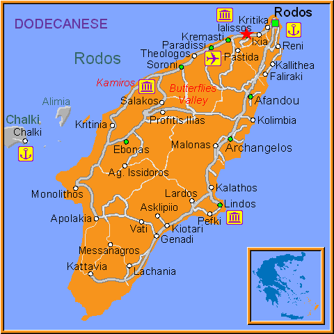 Travel Greece Map of Ialissos