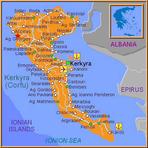 Travel Greece Map of Ag Georgios