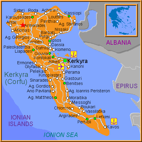 Travel Greece Map of Armenades