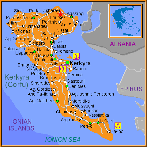 Travel Greece Map of Loutses