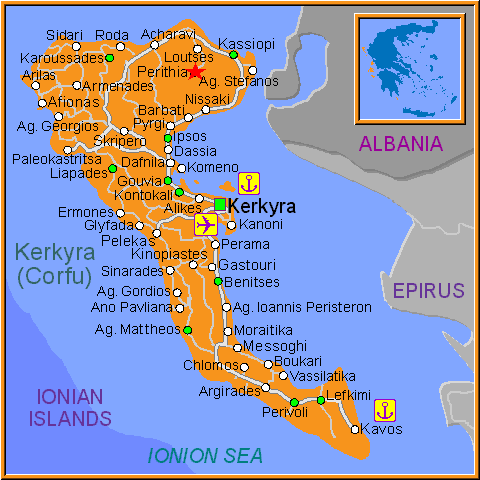 Travel Greece Map of Perithia