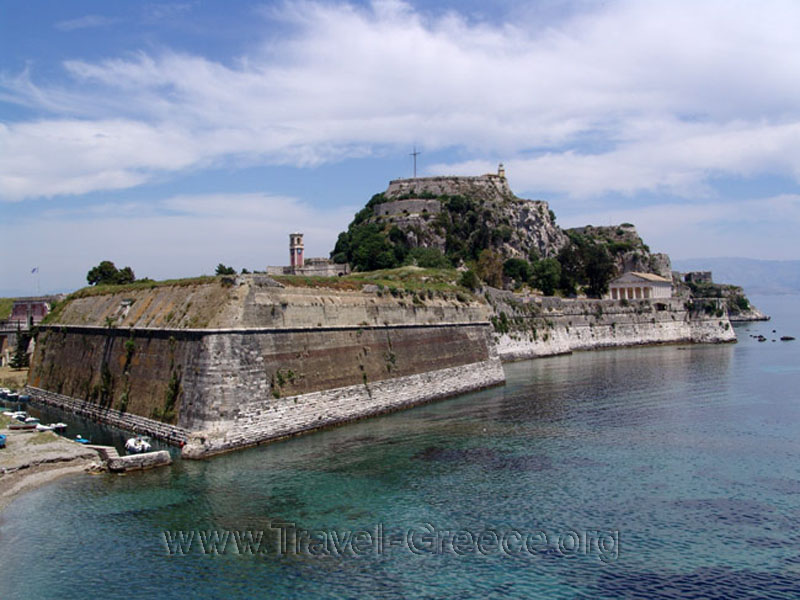 Corfu Old Fortress in Corfu Island - Greece