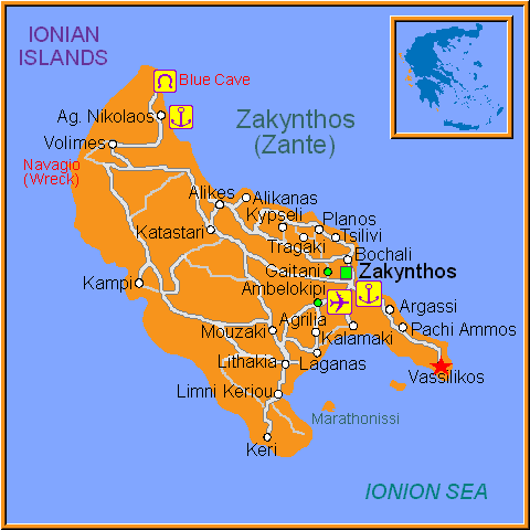 Travel Greece Map of Vassilikos