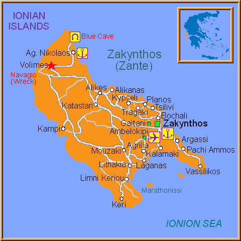 Travel Greece Map of Volimes