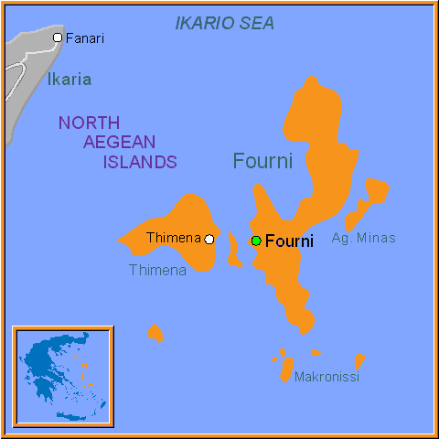 Travel Greece Map of Fourni