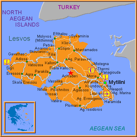 Travel Greece Map of Achladeri