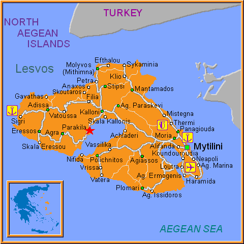 Travel Greece Map of Parakila