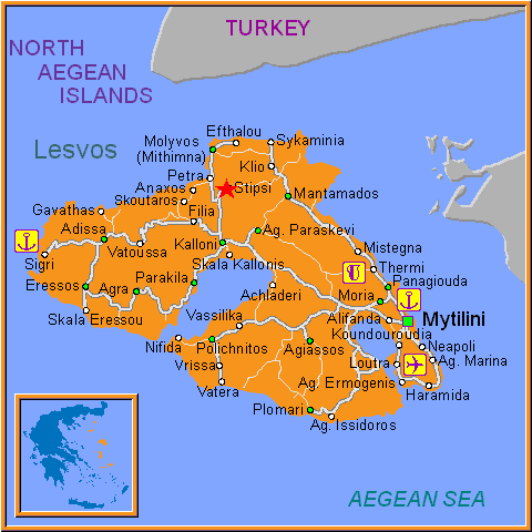 Travel Greece Map of Stipsi