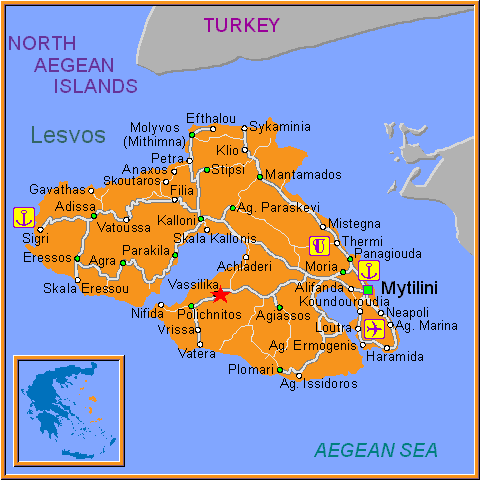 Travel Greece Map of Vassilika