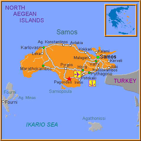 Travel Greece Map of Pagondas