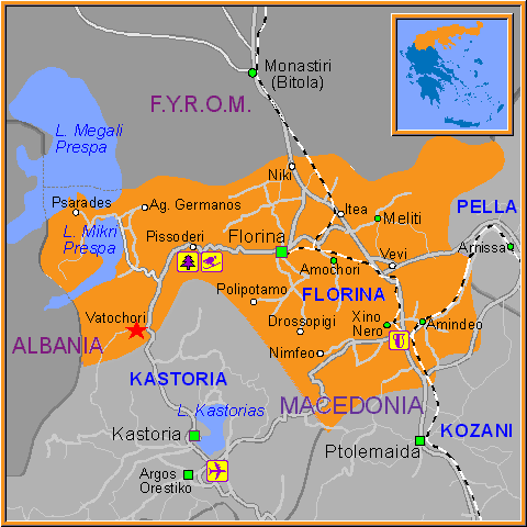 Travel Greece Map of Vatochori
