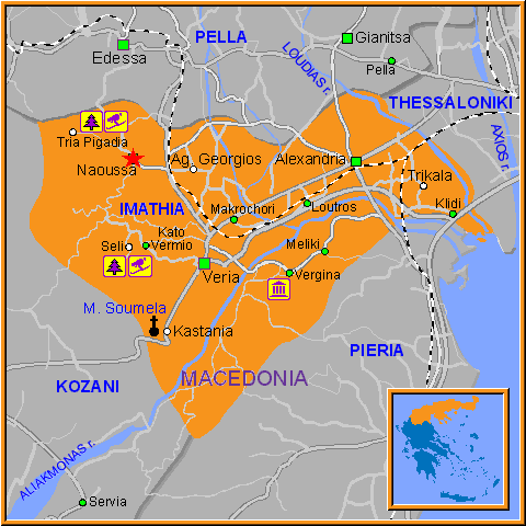 Travel Greece Map of Naoussa
