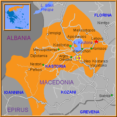 Travel Greece Map of Lehovo