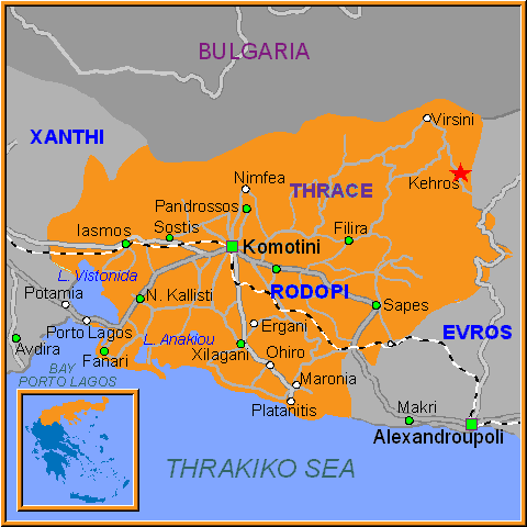 Travel Greece Map of Kehros