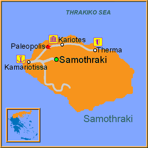 Travel Greece Map of Paleopolis