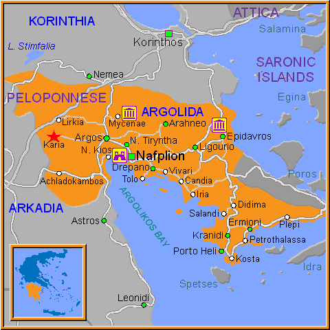Travel Greece Map of Karia