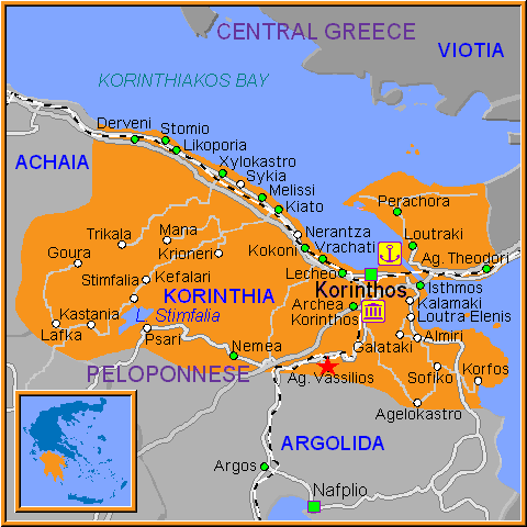 Travel Greece Map of Ag Vassilios