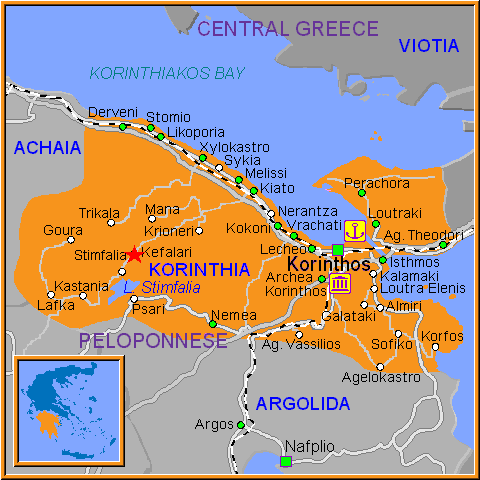 Travel Greece Map of Kefalari