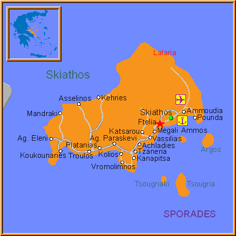Travel Greece Map of Ftelia
