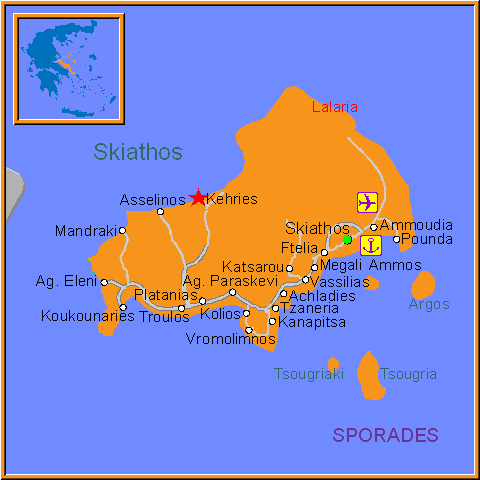 Travel Greece Map of Kehries